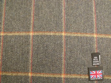 Country Tweed Shadow Windowpane Check Fabric AZ90